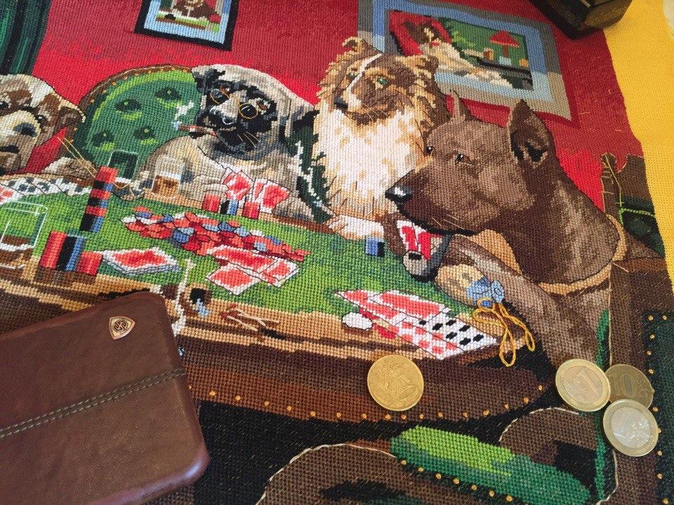 Набор для вышивания Собачий клуб, The Coolidge Dogs, Артикул 2474
