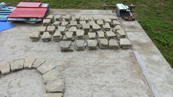 Набор камня для очага при сборке своими руками