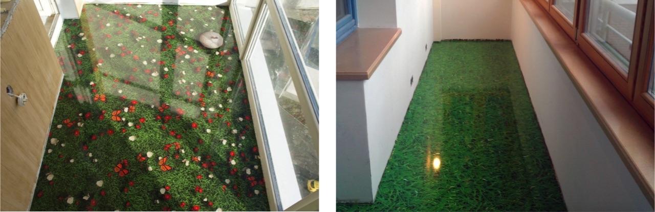 наливной пол на балконе