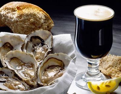 устрицы и крепкие сорта пива