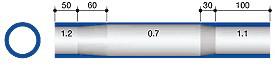 профіль баттірованной труби для велосипедної рами