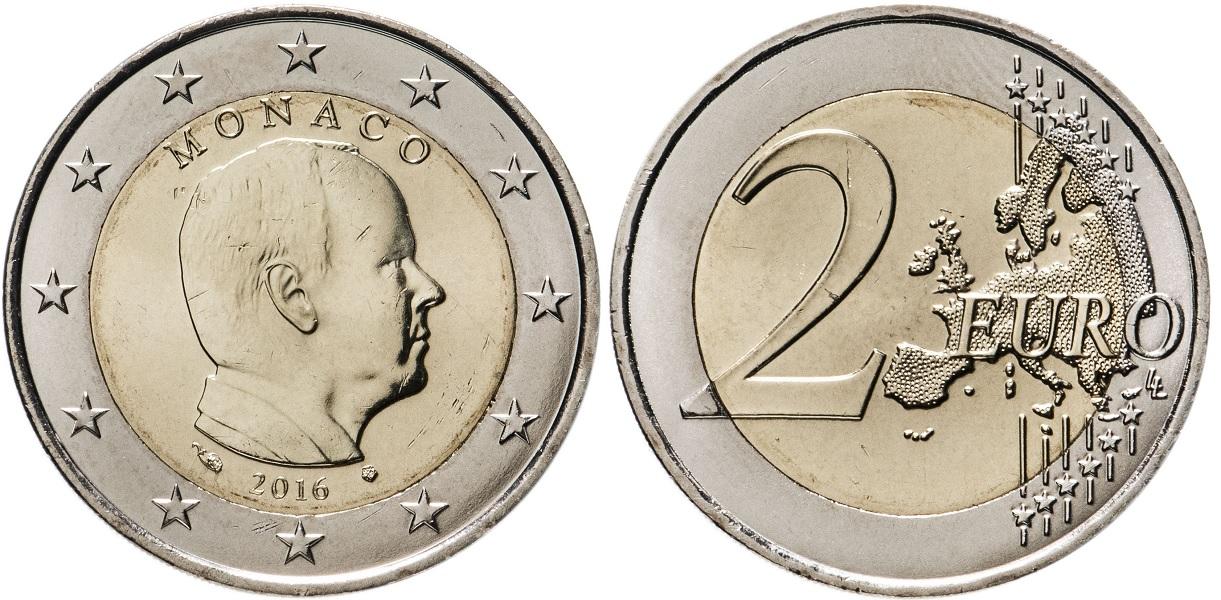2 евро Монако 2016