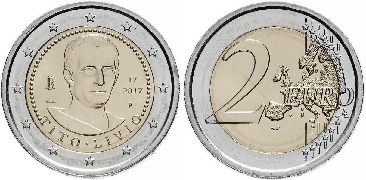 2 евро Италии 2017