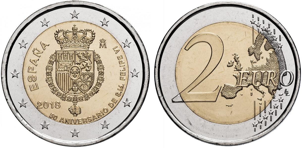 2 евро Испании 2018