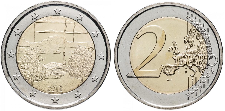 2 евро Финляндии 2018
