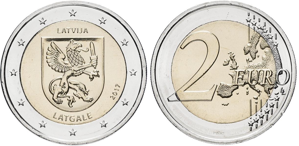 2 евро Латвии 2017