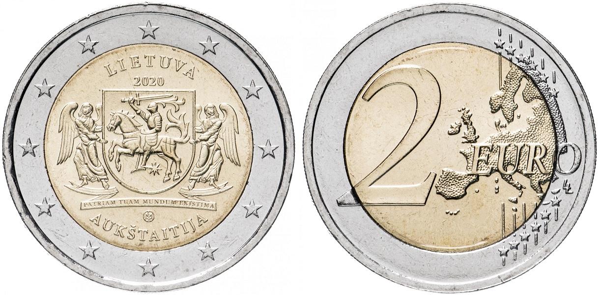 2 евро Литвы 2020