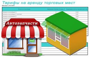 Тарифы на аренду торговых мест, рекламных площадей и складов на Авторынке