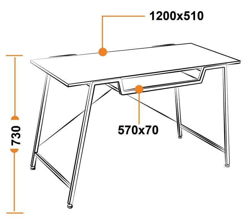 Размеры компьютерного стола WRX-13