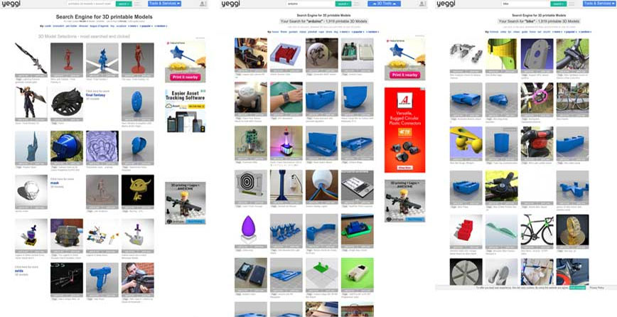 yeggi поиск 3д моделей для 3д принтера