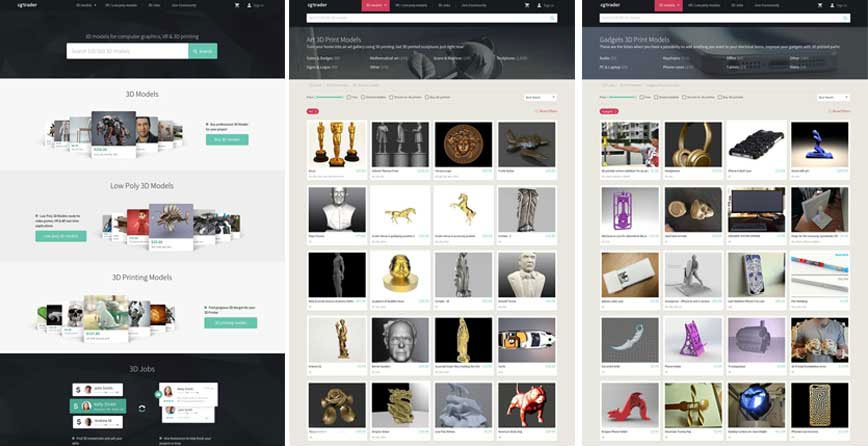 Модели для 3д принтера cgtrader.com