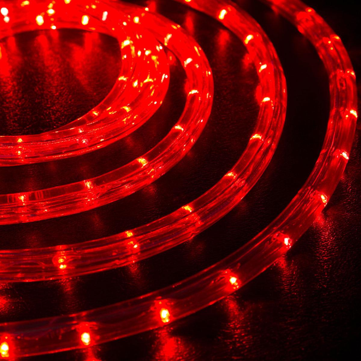LED 10 метров шланга дюралайт красный цвет набор коннектор в сборе шнур
