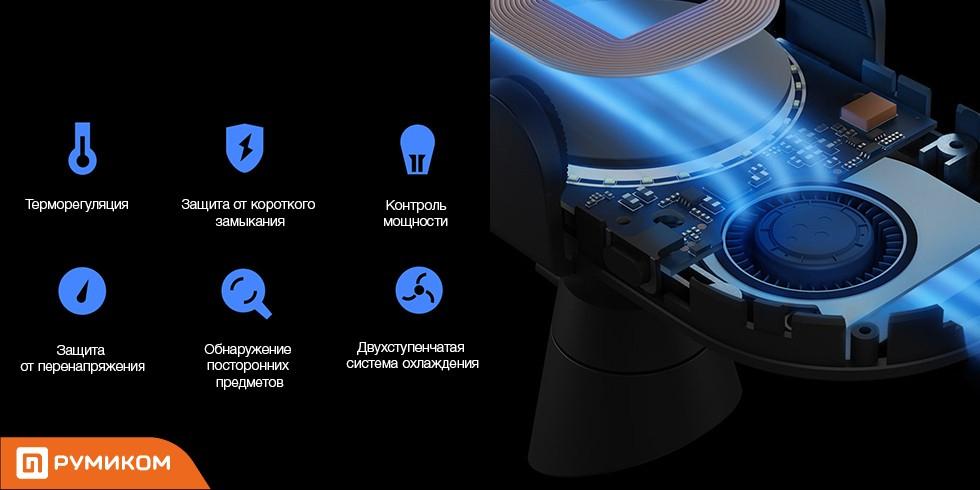 Беспроводное зарядное устройство для автомобиля Xiaomi Wireless Car Charger (черный)
