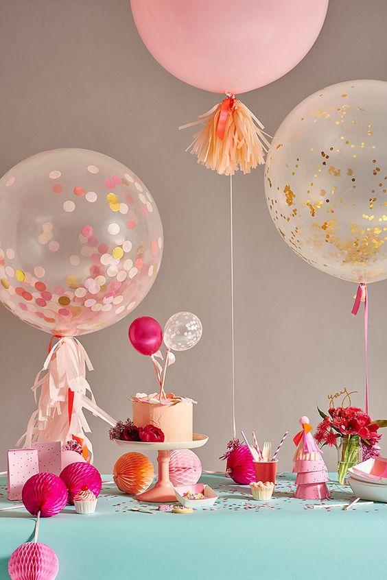 шары с конфетти большие