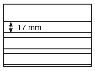 Планшет для марок Standard 148x105 мм, 3 полоски, черная основа, уп. 100 шт