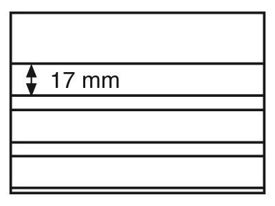 Планшет для марок Standard 158x113 мм, 3 полоски, черная основа, уп. 100 шт