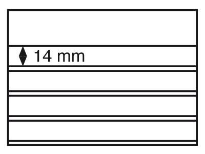Планшет для марок Standard 158x113 мм, 4 полоски, черная основа, уп. 100 шт
