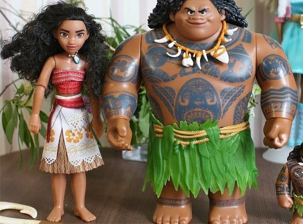 Большой набор с куклами - Моана и Мауи