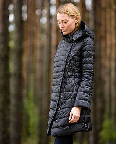 Женский облегченный пуховик Joutsen Marilyn черного цвета