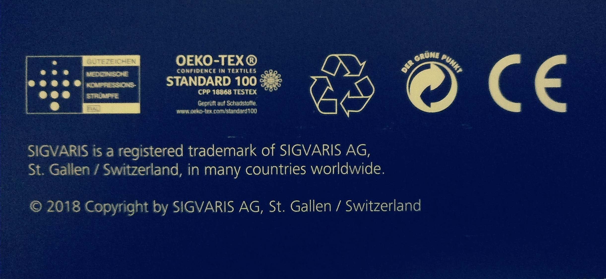 На фото - маркировка европейских стандартов качества