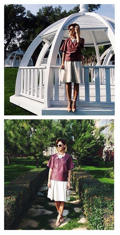 Колье Leather Lion от ANDRES GALLARDO носит  стилист и блоггер Софи Елисеева