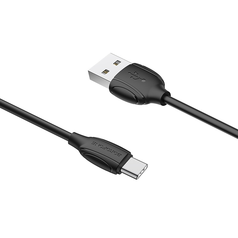 borofone bx19 benefit usb c charging data cable connectors