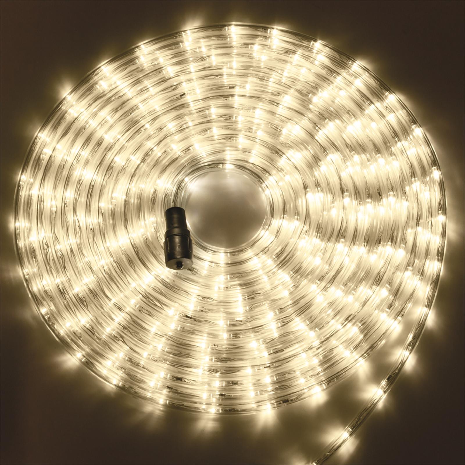 теплый белый цвет шланга готового комплекта дюраалйта 10 метров Led с вилкой и коннектором