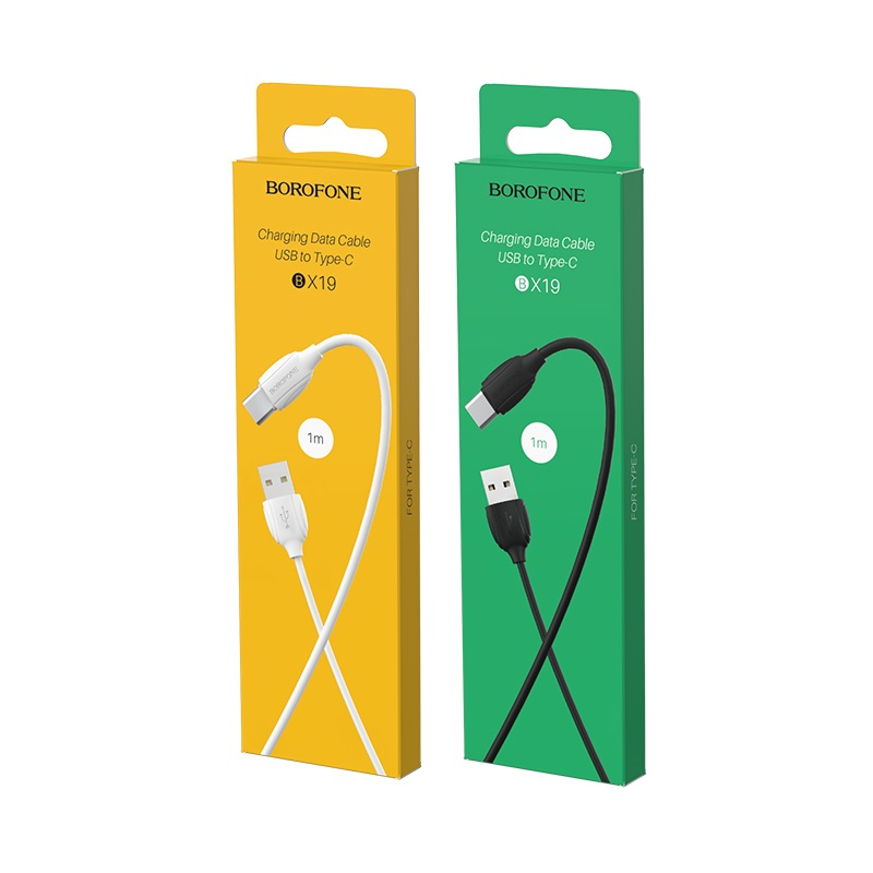 borofone bx19 benefit usb c charging data cable box