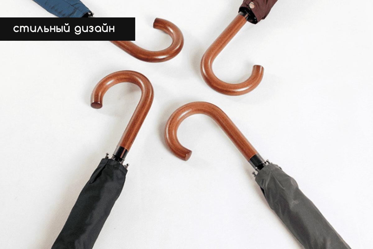 Зонт трость полуавтомат черный | ZC Fumagalli