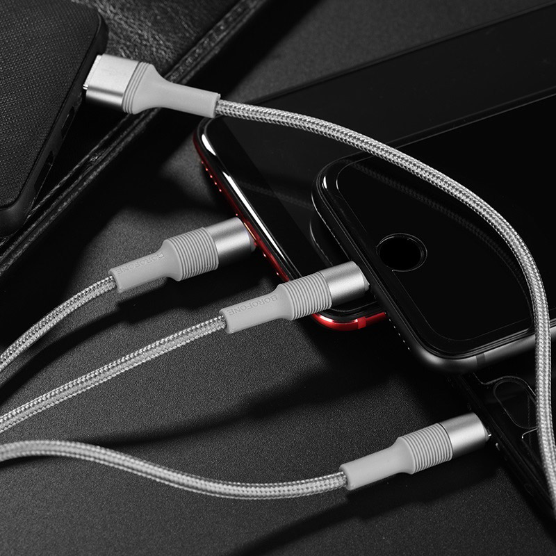 borofone bx21 3in1 outstanding charging data cable charging