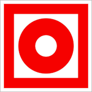 Пожарные знаки безопасности F10 Кнопка включения установок (систем) пожарной автоматики