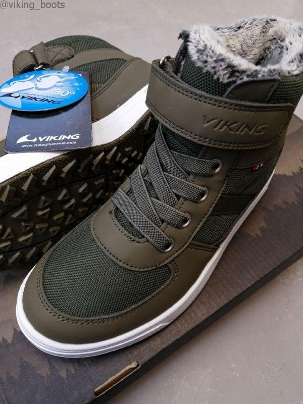 Ботинки Viking Lukas WP купить в зеленом цвете (сезон 2020-2021) можно для мальчиков с доставкой по России!