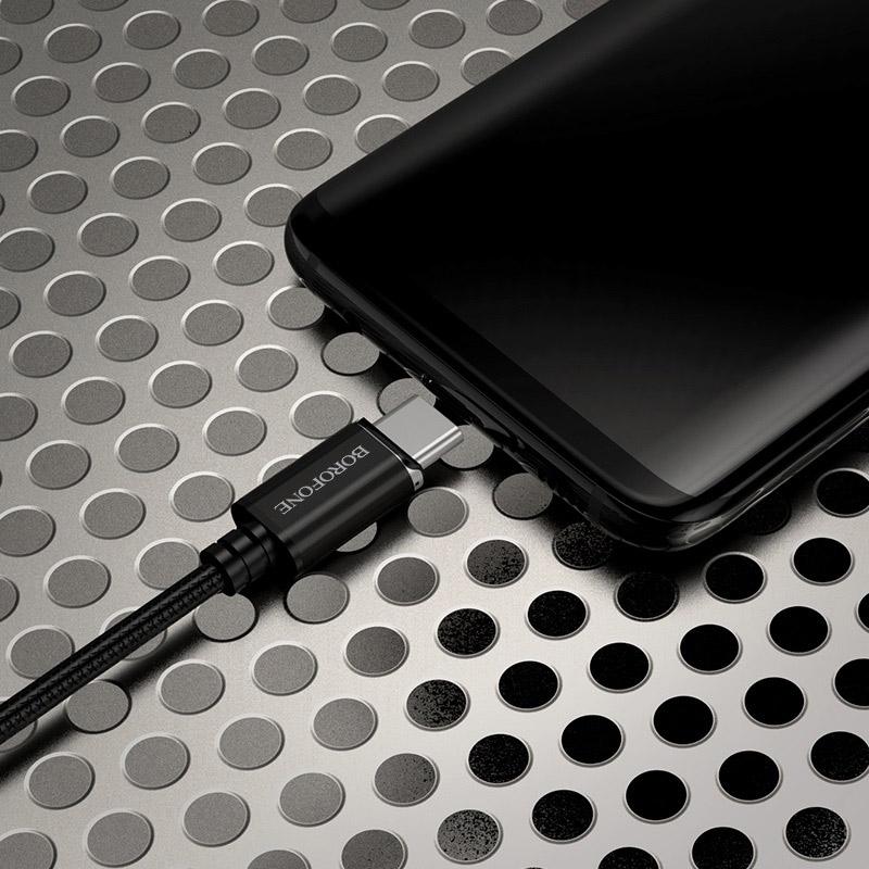 borofone bu1 magjet type c usb charging data cable phone