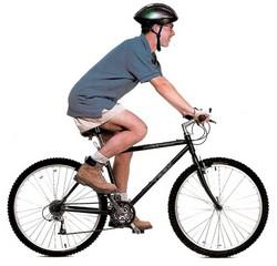 Посадка на горном велосипеде