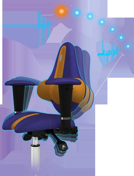 Регулировка УГЛА наклона кресла