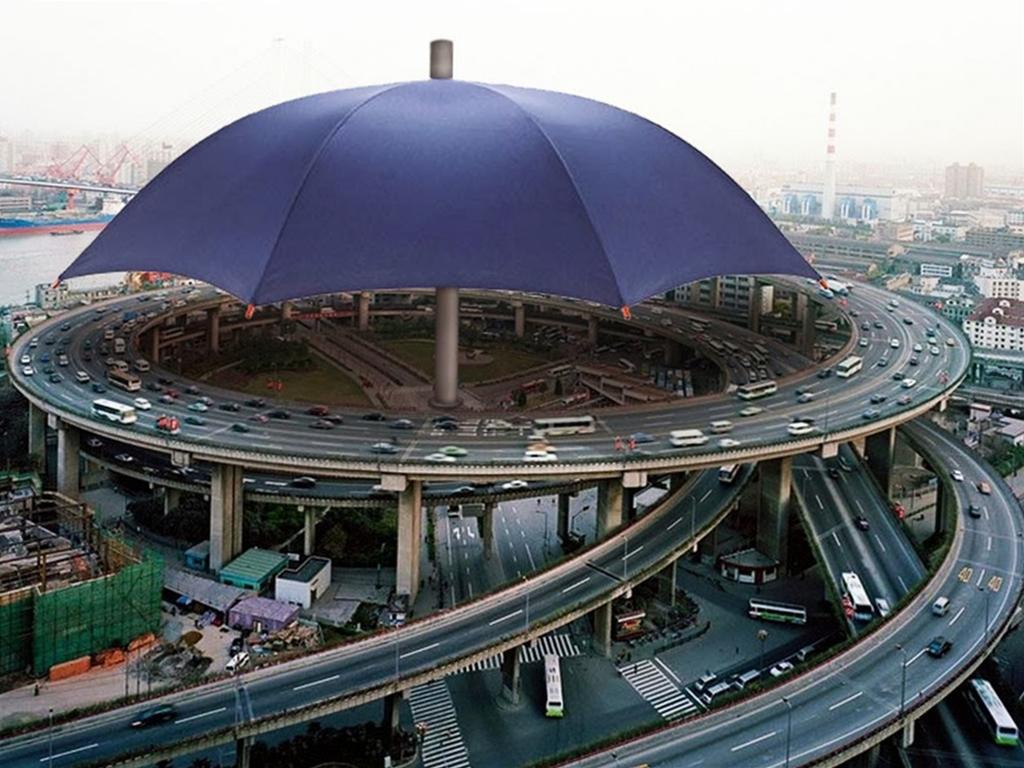 Самый большой зонт в мире
