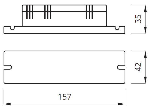 Размер блока аварийного питания conversion kit LIDER PLUS