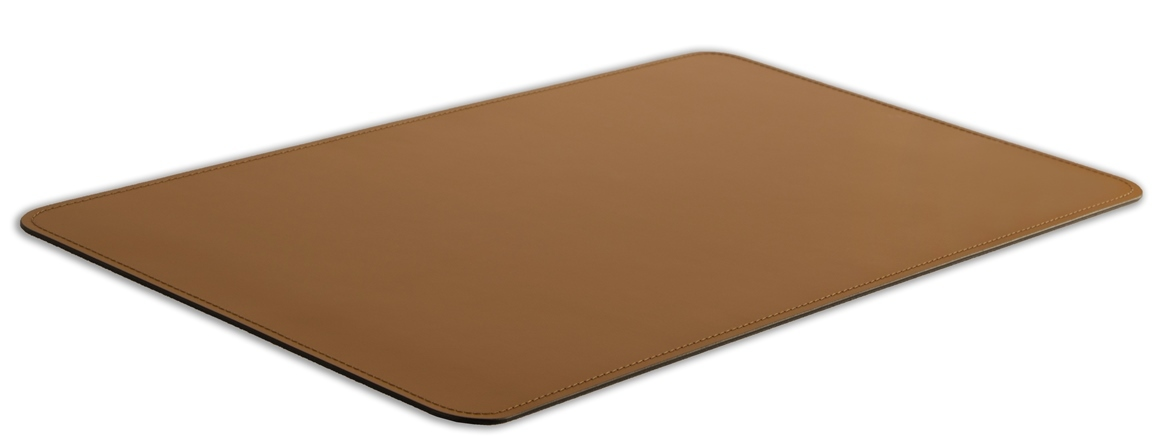 Бювар накладка на стол из итальянской кожи Cuoietto цвет табак.