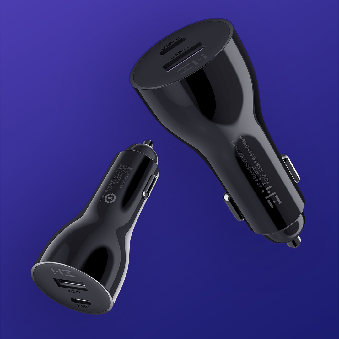 Автомобильный блок питания ZMI Metal Car Charger 45W Dual Port USB/Type-C (AP721)