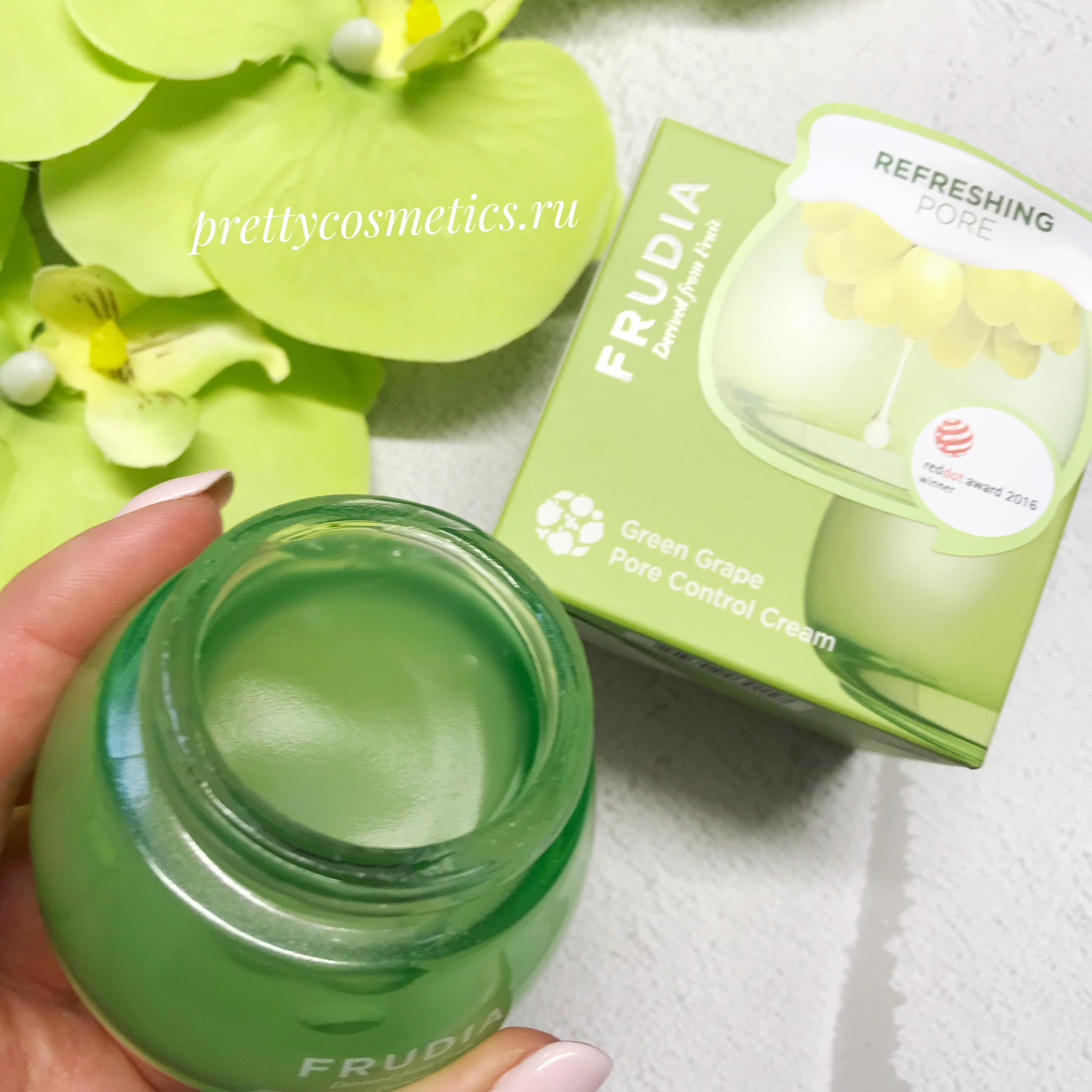 Frudia Green Grape Pore Control Cream Фрудиа Себорегулирующий крем с зеленым виноградом 55гр