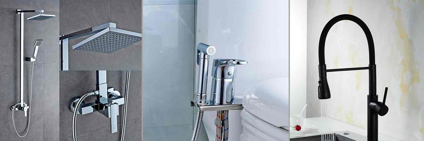 Фото кранов для ванны, кухни, душа, биде.