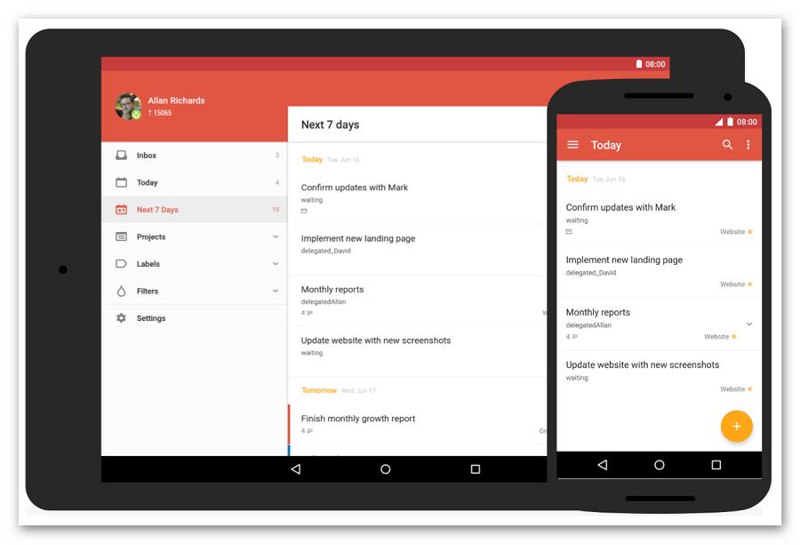 Todoist - программа для планирования