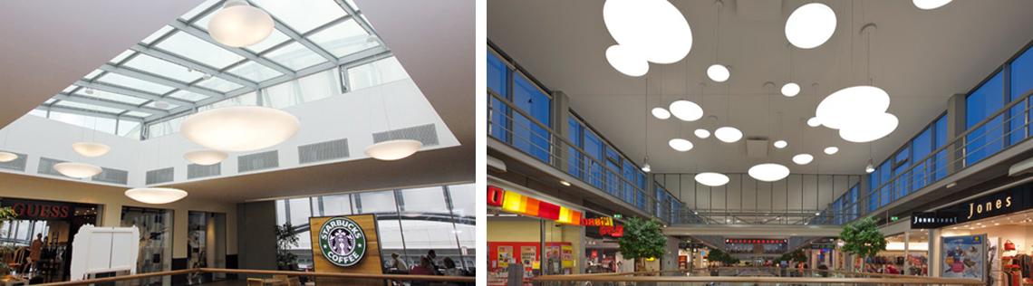 бренд RZB Leuchten. Коллекция настенно-потолочных и подвесных приборов Flat Polymero