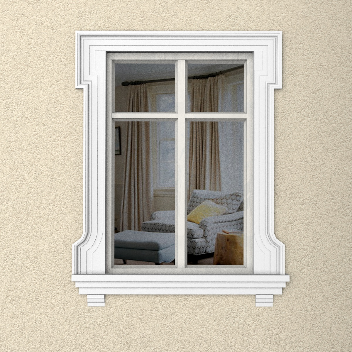 Наличник на окно из пенополистирола