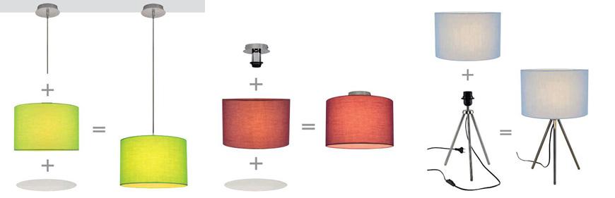 Коллекция Fenda включает настольные, потолочные и подвесные конструкции, к которым прикрепляются текстильные абажуры. При этом цветовая палитра плафонов позволяет выбрать светильник, который обязательно впишется именно в ваш интерьер. Кроме того, цветовой оттенок плафона меняется во время включения света, создавая тем самым своеобразный эффект.