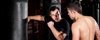 Фото тренировки с боксерской грушей 120 кг