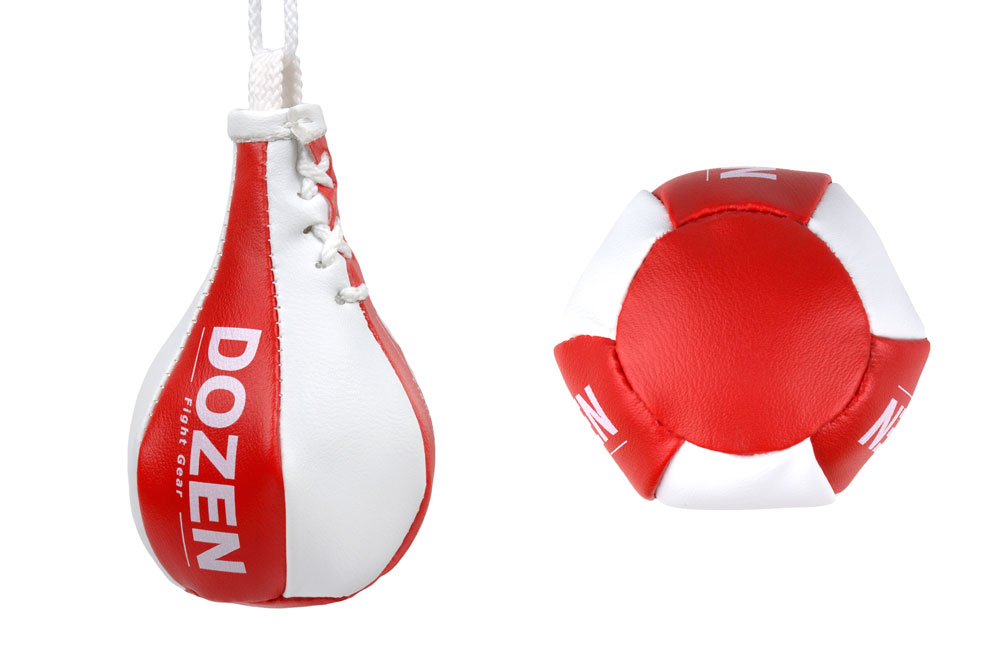 Брелок мини-груша Dozen Light Mini Speed Bag красный конструкция