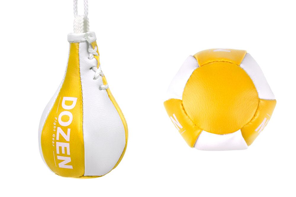 Брелок мини-груша Dozen Light Mini Speed Bag желтый конструкция