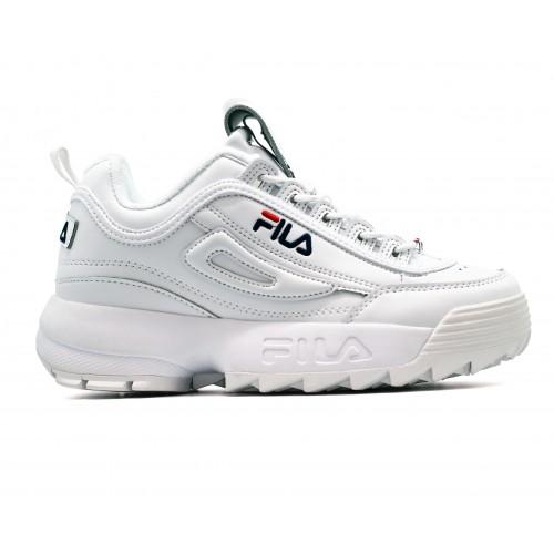 какие белые женские белые кроссовки купить обзо модели Fila DISRUPTOR 2 White