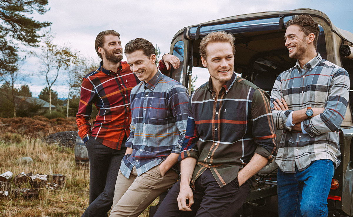 Мужские рубашки Барбур в английском стиле